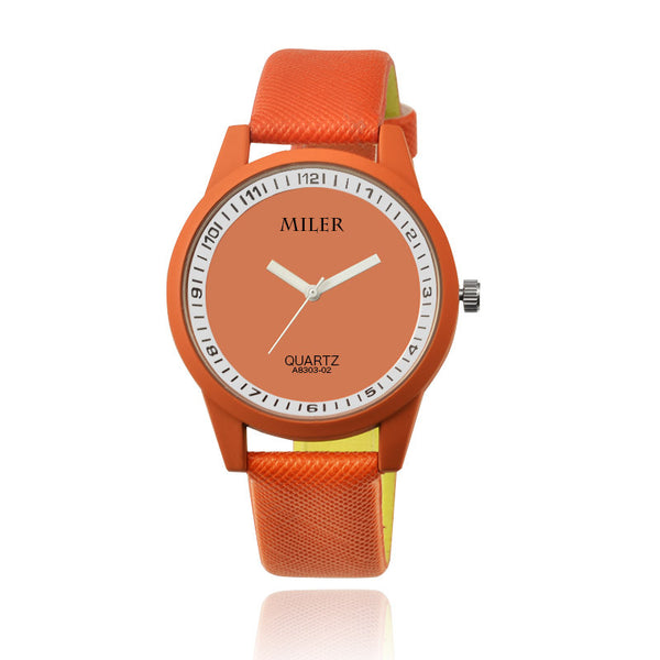 MILER Watch Women Watches Fashion Leather Wrist Watches Women'S Watches