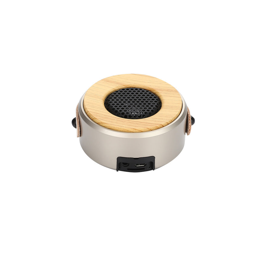 Wireless Bluetooth Speaker Outdoor Bluetooth Speaker Wooden Outdoor Music Player Stereo Speaker with Microphone USB Party