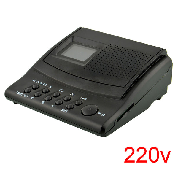 Black 220V Mini Digital Telephone Recording Slot Voice Recorder Box Office