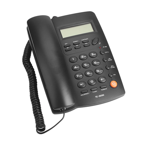 Fashion Hotel Flash Telephone Corded Phone Wall Mountable Corded Phone Redial Landline