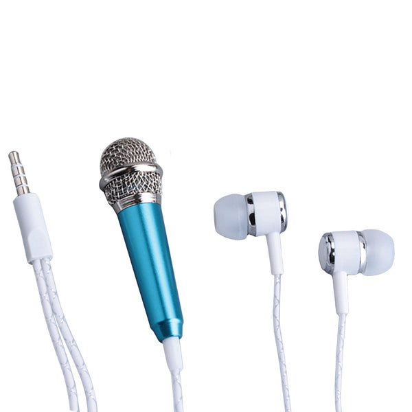 Portable Wired Mini Headset Microphone For Mobile Phone Computer Karaoke