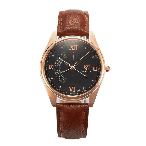 Luxury Watches Unique Fashion Men'S Watch Waterproof Watch Leather Watch