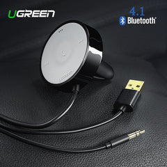 UGREEN Bluetooth Receiver 4.1 Wireless 3.5mm Adapter HandsFree Bluetooth Car Kit Bluetooth Audio Receiver for Speaker Car Stereo