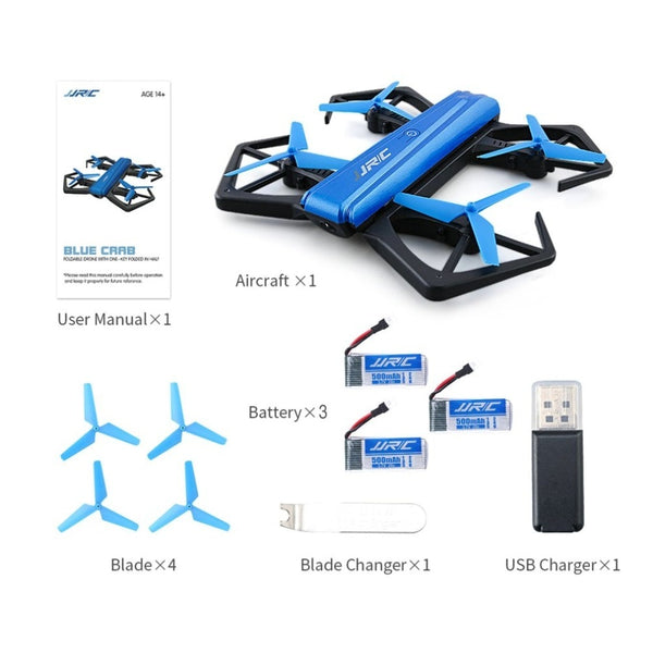 JJR/C H43WH WIFI FPV Dron Self-timer Quadcopter Foldable G-sensor Mini RC Selfie Drone Quadcopter With 3 batteries