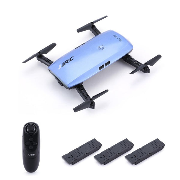 JJR/C H47 ELFIE WIFI FPV Drone With 720P HD Camera Altitude Hold Mode Foldable G-sensor Mini RC Selfie Quadcopter with 3 battery