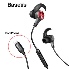 Baseus Earphone For Lightning in-ear Earphones for iPhone 7 8 6s 6plus 8pin Hifi Earbuds Headset fone de ouvido With Mic for ios