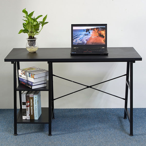 Multifunctional Wooden Computer Desk with Book Shelf for Laptop PC Computers