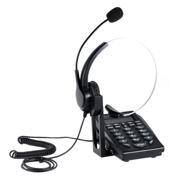 HT310 Headset Telephone Business Headsets Caller ID Telephone Customer Service Telephone Noise Cancellation Power Saving with Backlight Stand