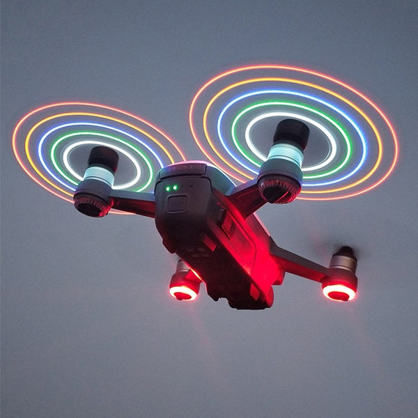 2 Pairs LED Flash Quick Release 4730 CW CCW Propellers Blades Props Spare Parts for DJI Spark RC Drone
