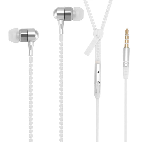 Luminous Headphones Luminous Zipper Headphones In-Ear Bass With Wheat Phone Headset