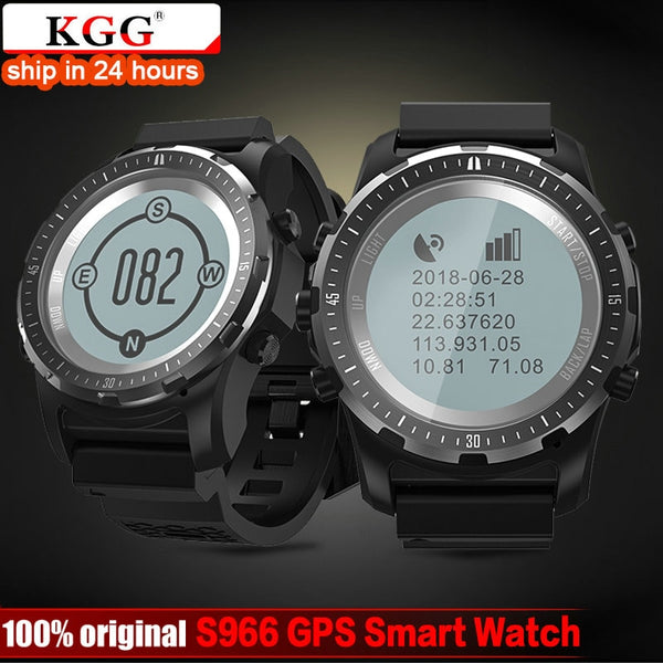 KGG GPS Compass Speedometer S966 Sport Watch Bluetooth Heart Rate monitor Multi-sport fitness tracker Smart Watch