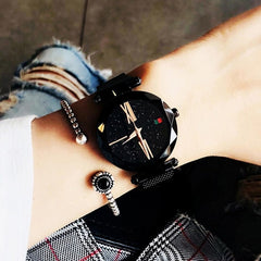 8mm 1 Iron Alloy Strap Quartz 35mm Round 8 4inch Watch Lazy 220mm Women Magnet 0 Waterproof Fashion 7inch 3inch Wrist