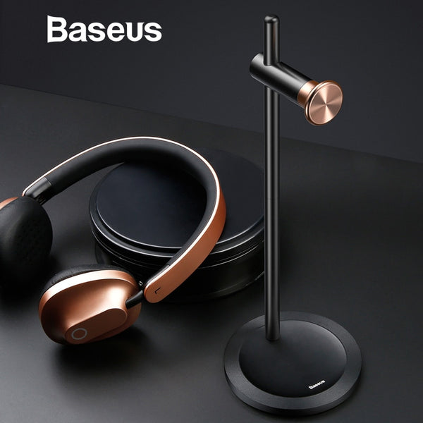 Baseus Adjustable Headphone Holder Fashion Design Metal Texture Headphone stand Earphone Headset desktop Stand hanger
