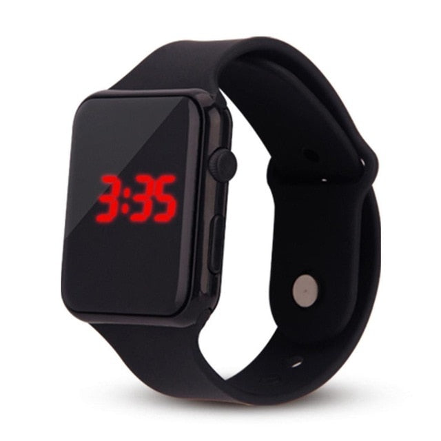 Clock Thin Square provide Digital accurate Fashion and Plastic Watch Ultra precise time Sporting It LED Wrist keeping