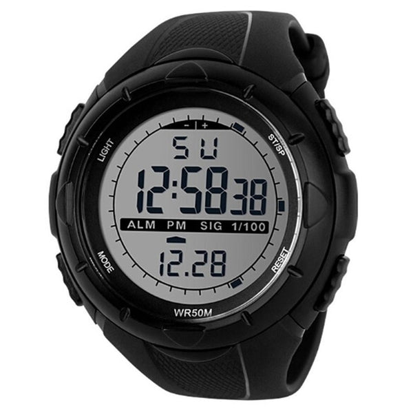Buckle Round Pedometer Men Intelligent Digital Smart 5Bar Sport Fashion Casual Watch Outdoor Instructions Sports Watch