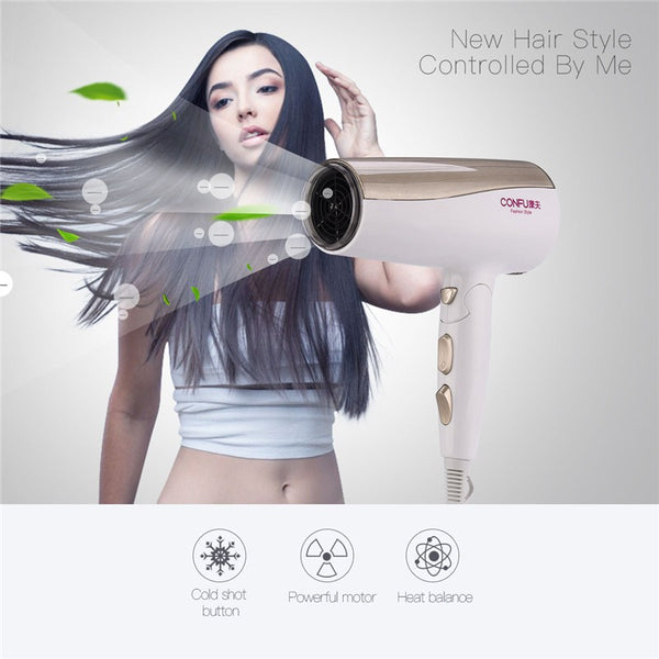 220v-230v Professional 2000W Hair Dryer Foldable Handle Blow Dryer with Wind 2 Speed and 3 Heat Settings
