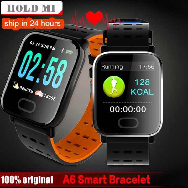A6 Smart watch Heart Rate Monitor Blood Pressure Measure Sport Waterproof SmartWatch Wrist Fitness Tracker for Android IOS pk q8