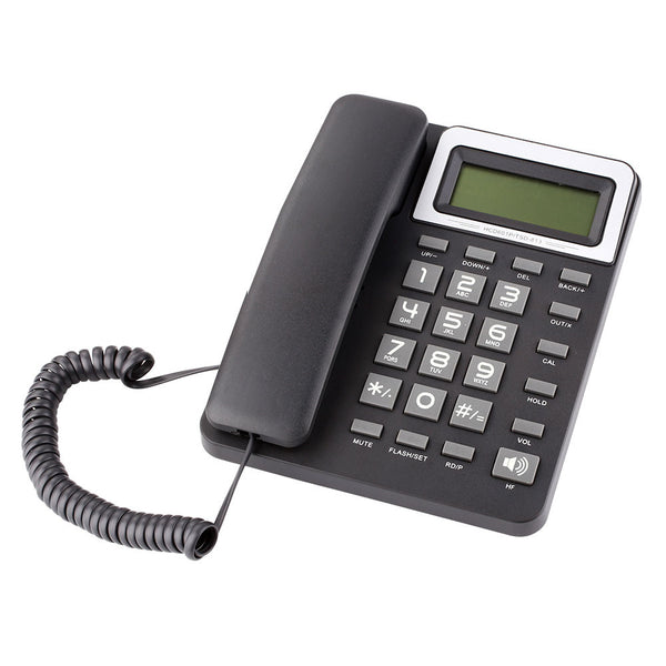 Fashion HF Key Phone Telephone Landline Corded Large Display Alarm Pause Corded Phone