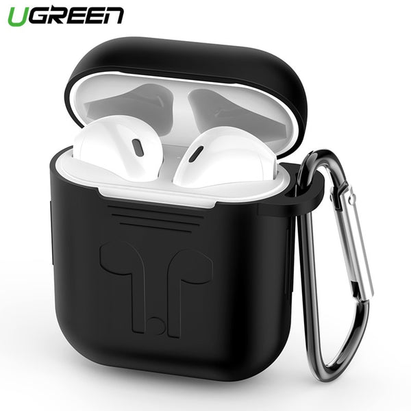 Ugreen Earphone Case for Apple AirPods Silicone Cover Wireless Bluetooth Headphone Air Pods Pouch Protective AirPod Accessories