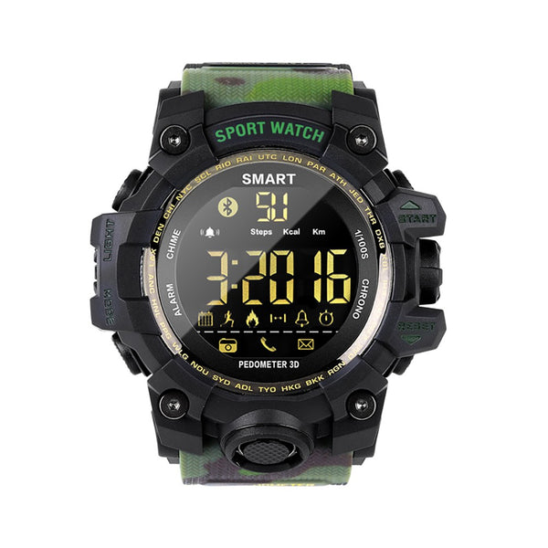 Smart Watch, Waterproof Men Sports Watch Alarm Long Standby Camouflage Straps Military Smart watch Bluetooth Wristwatch, Watch for Men