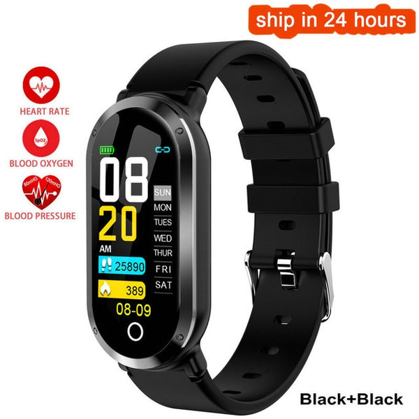 T1 Smart Watch Women Men Heart Rate Monitor Blood Pressure Fitness Activity tracker Smart Bracelet Ladies Wristwatch Sport Band