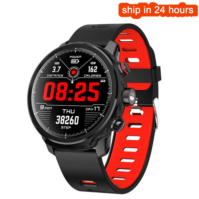 fb4c4484cb42 New L5 Smart Watch Men IP68 Waterproof Multiple Sports Mode Heart Rate  Weather Forecast Bluetooth Smartwatch