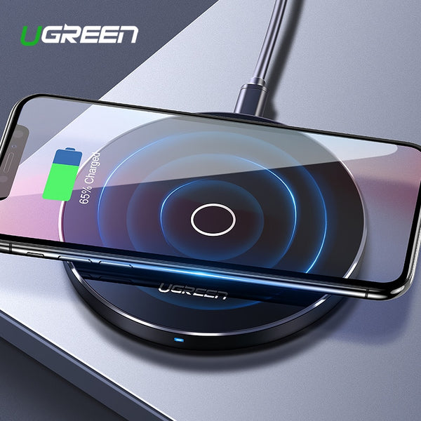 Ugreen 10W Qi Wireless Charger for iPhone X XS Max XR 8 Plus Fast Wireless Charging Pad for Samsung S8 S9 S9+ Note 9 Xiaomi