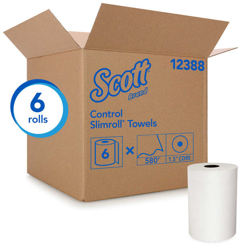 Scott Slimroll Roll Towels White 6 rolls/580 ft. per roll