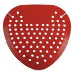 Boardwalk Urinal Screen, Cherry, Red