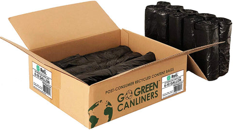 Black (Low Density) Trash Can Liners