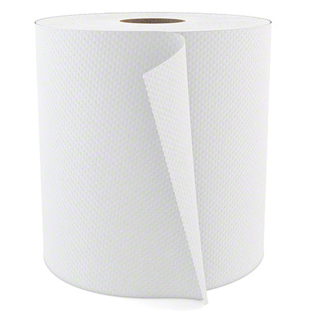 Soft Touch Roll Towels, White, 6 rolls/800 ft. per roll