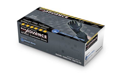 Nitrile Powder Free Gloves, Black, 6.0-6.5 mil