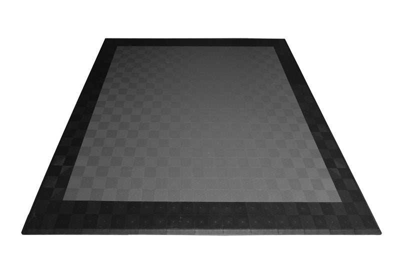 smooth Two Car Garage Mat Parking Mat Gray with Black Border