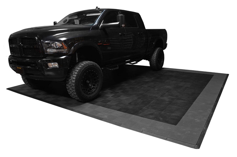 One Car Ribtrax Smooth Garage Mat