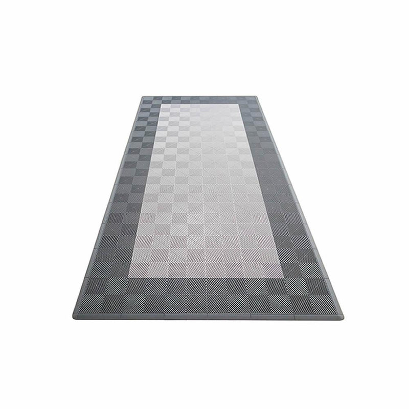 Swisstrax Ribtrax One Car Parking Mat & Garage Mat Gray with Black Border