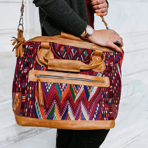 Mid-Sized Huipil Purse #3