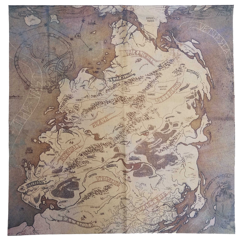 Banner Saga World Cloth Map