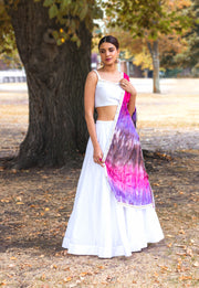 Rainbow Lengha - CoutureMantra