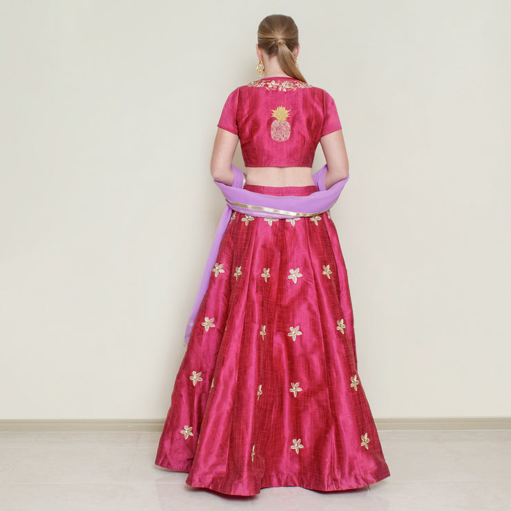 Red Pineapple Lehenga Set