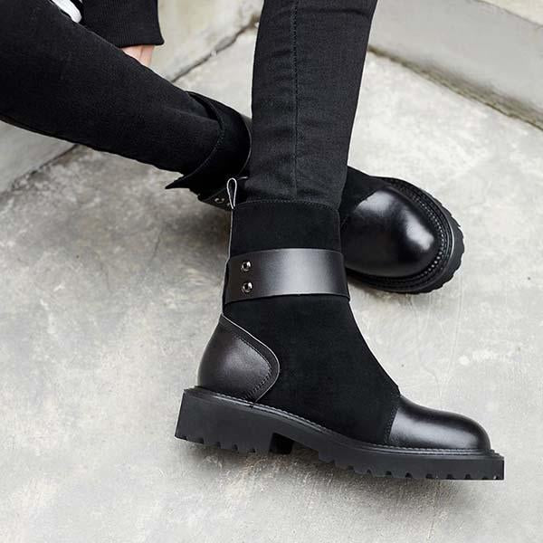 Fionachic Fashion Classic Adjustable Buckle Boots