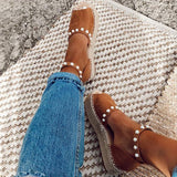 Fionachic Chic Flats Adjustable Buckle Sandals