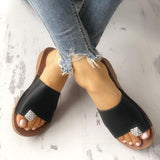 Fionachic Shiny Embellished Single Strap Toe Ring Slippers