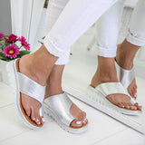 Fionachic Slip-On Comfy Platform Sandals