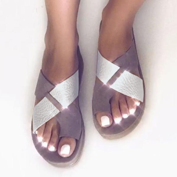 Fionachic Vintage Summer Beach Casual Slippers