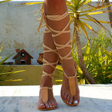 Fionachic T-strap Ancient Greek Sandals