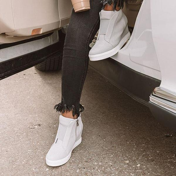 Fionachic Fashion Stylish Daily Wedge Sneakers