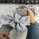 Fionachic Women Casual Bow Flat Slippers