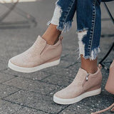Fionachic Wedge Daily Comfy Sneakers