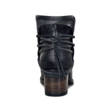 Fionachic Vintage Low Heel Ankle Casual Back-lace Boots