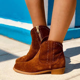 Fionachic Brown Artificial Suede Ankle Boots